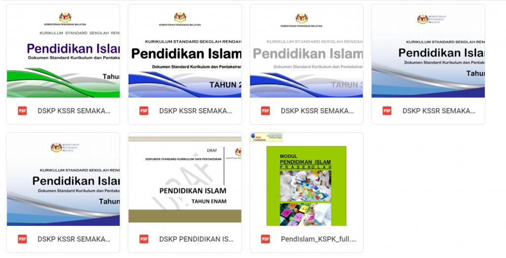 DSKP Pendidikan Islam 2021 + KSPK PRA